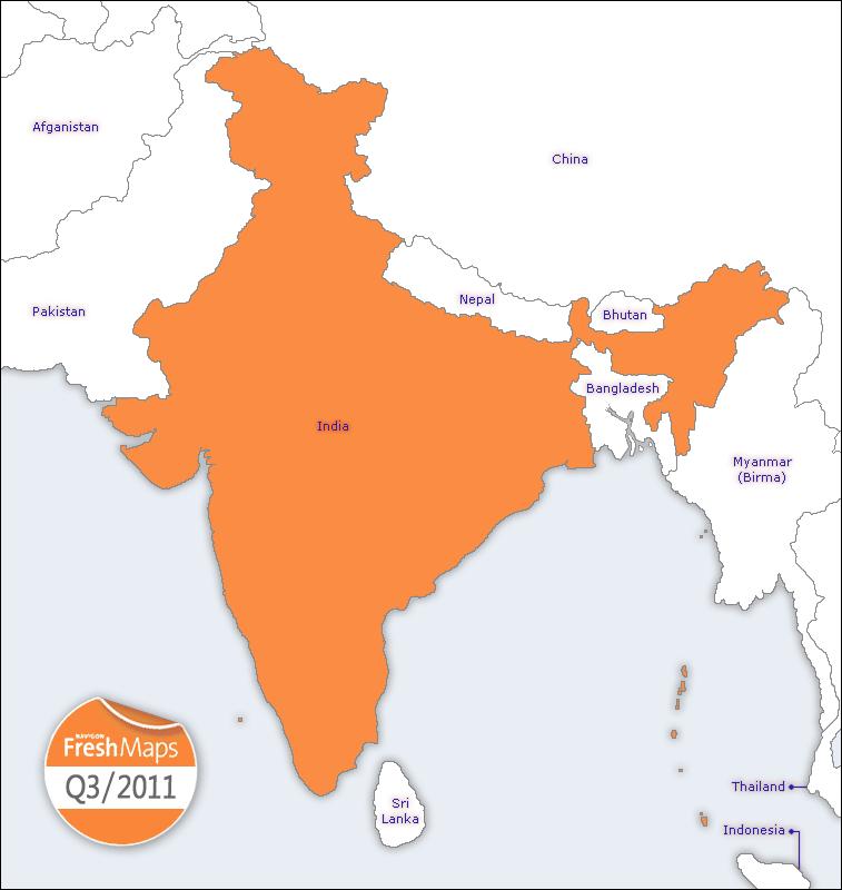 NAVIGON FreshMaps XL   2011 Q3   South East Asia Incl. India