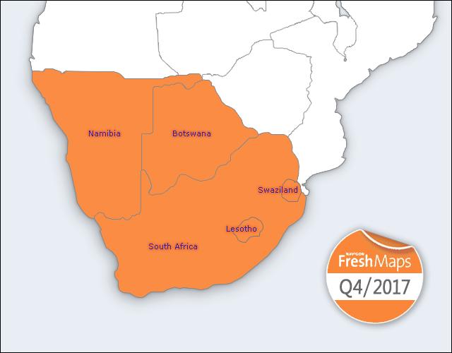 NAVIGON FreshMaps XL   2017 Q4   Southern Africa
