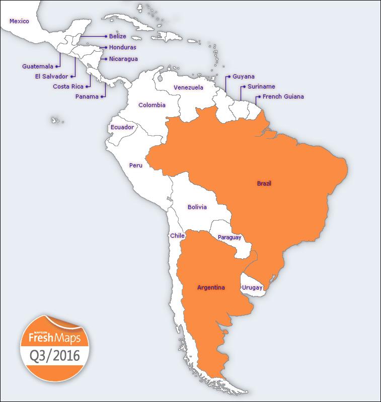 NAVIGON FreshMaps XL   2016 Q3   South America