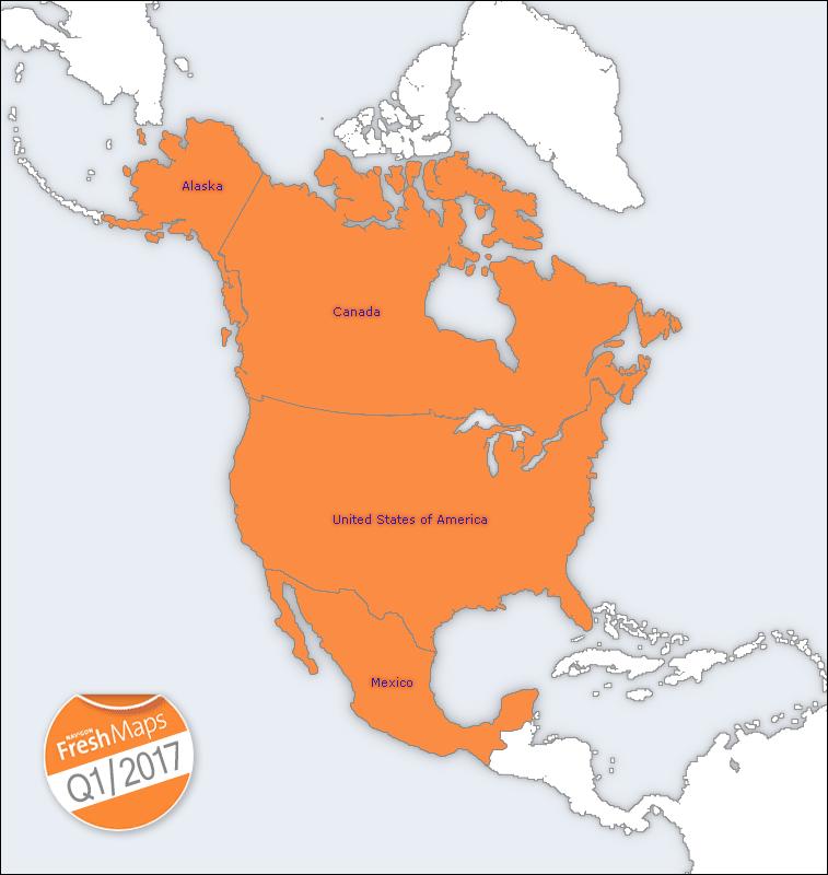 NAVIGON FreshMaps XL   North America   Q1 2017